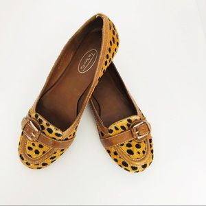 Talbots | Leather Animal Print Flats
